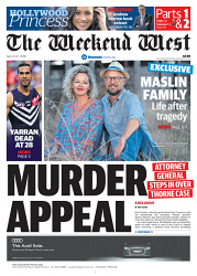 TWA-0088854 © WestPix Front page of The West Australian for the 21st April 2018.