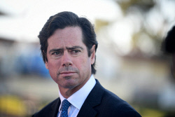 TWA-0089078 © WestPix AFL Chief Executive Gillon McLachlan pictured at LAthlain Oval this afternoon.He provided an update from today's AFL Commission meeting. Picture: Ian Munro The West Australian 27/04/18