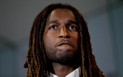TWA-0089492 © WestPix West Coast Eagles ruckman Nic Naitanui fronts the media after his AFL tribunal appearance. PICTURE NIC ELLIS   THE WEST AUSTRALIAN