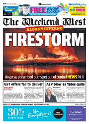 TWA-0090094 © WestPix Front page of The West Australian for the 26th May 2018