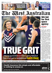 TWA-0090605 © WestPix Front page of The West Australian for the 11th June 2018