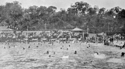 TWA-0090839 © WestPix CROWD THOUGHT TO BE AT OPENING OF CRAWLEY SWIMMING BATH'S, PERTH, FEBRUARY, 1914.
