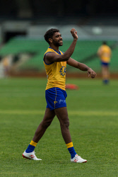 TWA-0090894 © WestPix Photos of West Coast Eagles training at Subiaco Oval, Perth. Pictured is Liam Ryan. Photo Ross Swanborough. 11 June 2018