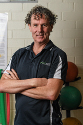 TWA-0093065 © WestPix Professor Peter O'Sullivan (pictured) is a leading physiotherapist, and he treated firefighter Joe Laurence for his chronic backpain. Picture: Iain Gillespie The West Australian