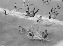 WAN-0006247 © WestPix Children playing and swimming at Cottesloe Beach. Circa 1930.  Picture by: Fred Flood