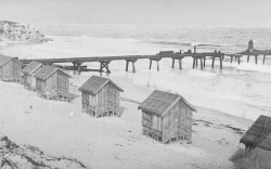 WAN-0006870 © WestPix Cottesloe Beach during the building of the pier. Circa 1900.  WAN Historical Archive