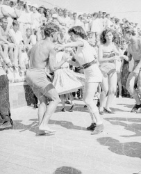 WAN-0007810 © WestPix Rock 'n' roll dancing at The Snake Pit in Scarborough. Circa 1957.  WAN Historical Archive