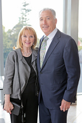 WAN-0018352 © WestPix UWA Business Leaders' Cocktail Party - Wildflower Restaurant (part of the refurbished Como The Treasury building)   Sylvia Bass and Charlie Bass  Picture: Ben Crabtree The West Australian. 26/11/2015