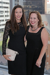 WAN-0018353 © WestPix UWA Business Leaders' Cocktail Party - Wildflower Restaurant (part of the refurbished Como The Treasury building)   Lyndal Day and Michele Roberts  Picture: Ben Crabtree The West Australian. 26/11/2015