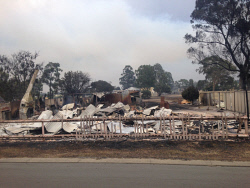 WAN-0020542 © WestPix Waroona bushfire. The fire has devastated the town of Yarloop with 95 homes destroyed. Picture: Simon Hydzik / 7 News