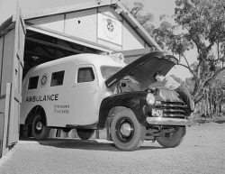 WAN-0024254 © WestPix Saint John's Ambulance at Wundowie. 1946.  WAN Historical Archive