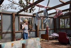 WAN-0025721 © WestPix Julie Bishop inspecting a house destroyed by Cyclone Winston in Rakiraki. Pic by Andrew Tillett The West Australian