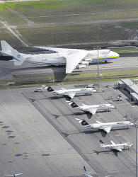 WAN-0026585 © WestPix The AN-225 Antonov arrives in Perth. Picture: Simon Hydzik  7 News