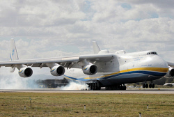 WAN-0026589 © WestPix The Antonov An-225 Mriya - the largest aircraft in the world and the only one of its type - lands at Perth Airport on Runway 21. 15 MAY 2016 Picture: Danella Bevis The West Australian