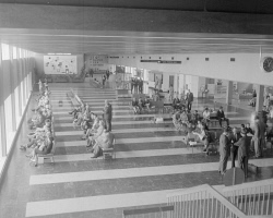 WAN-0030326 © WestPix PASSENGERS WAITING IN THE LOUNGE AT THE INTERNATIONAL AIRPORT. 28 OCTOBER 1966.