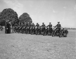 WAN-0030908 © WestPix New motorcycles for Police. Circa 1955.  WAN Historical Archive