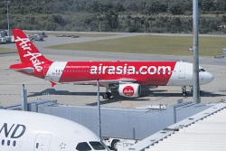 WAN-0031344 © WestPix Air Asia flight 535 that had to return to Perth due to loss of cabin pressure. Picture: Megan Powell The West Australian.