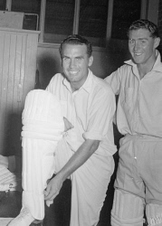 WAN-0031811 © WestPix CRICKETERS ALLAN EDWARDS AND PETER DUNN. 31 DECEMBER 1951.