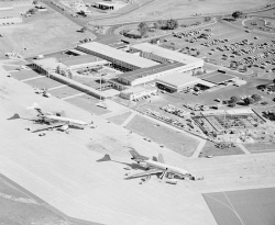WAN-0031869 © WestPix AERIAL VIEW OF PERTH AIRPORT. 8 JUNE 1965.