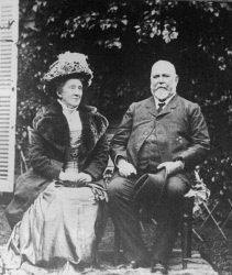 WAN-0033303 © WestPix SEATED PORTRAIT OF LORD JOHN FORREST AND LADY FORREST. PHOTOGRAPH TAKEN 1901, WHEN LORD FORREST (THEN SIR JOHN FORREST) WAS MINISTER FOR DEFENCE IN THE BARTON COMMISSION. HE WAS NAMED LORD FORREST OF BUNBURY IN 1918.