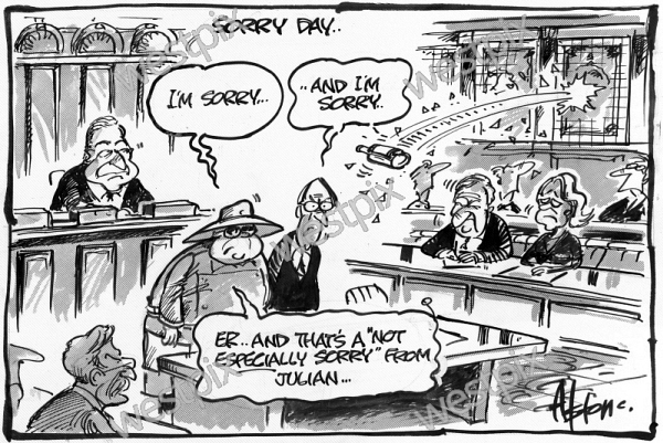 DEAN ALSTON CARTOON SORRY DAY BRIAN BURKE AND | WestPix