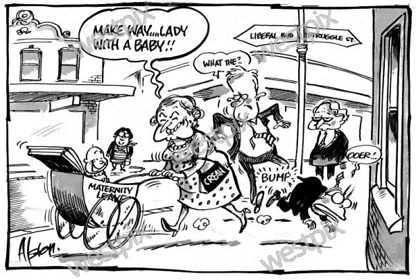 A Dean Alston Cartoon About Paid Maternity Westpix